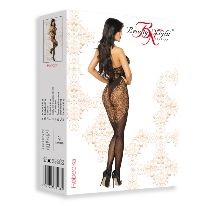 Catsuit / Body Stockings Rebecka - Negru, S/l