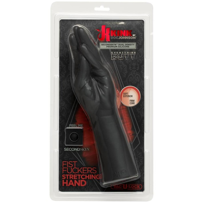 Dildo Realistic Kink Fist Fuckers Stretching Hand, Negru
