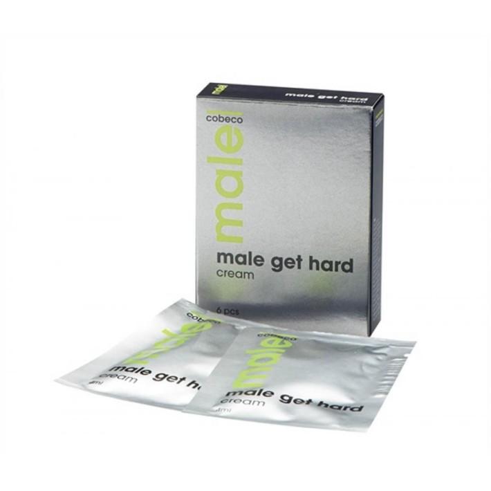 Crema Pentru Erectie Male Get Hard, 6 Pliculete*4 Ml