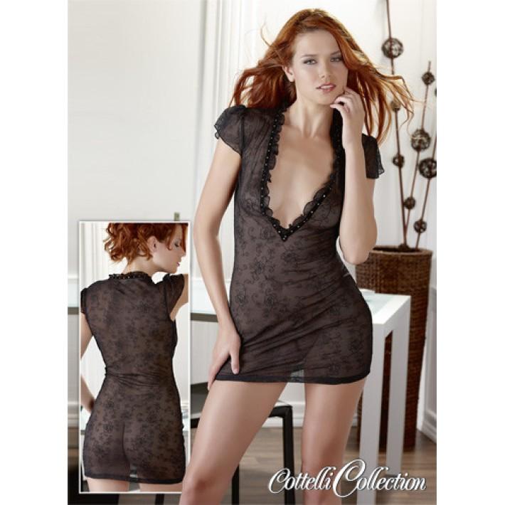 Rochita Sexy Kleid Wanda, Negru, M