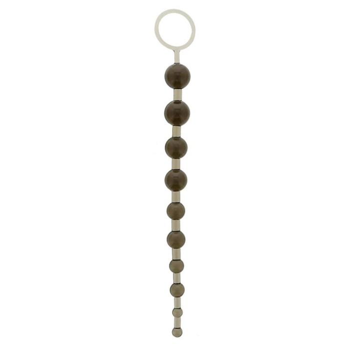 Bile Anale Oriental Jelly Butt Beads, Negru, 26 Cm