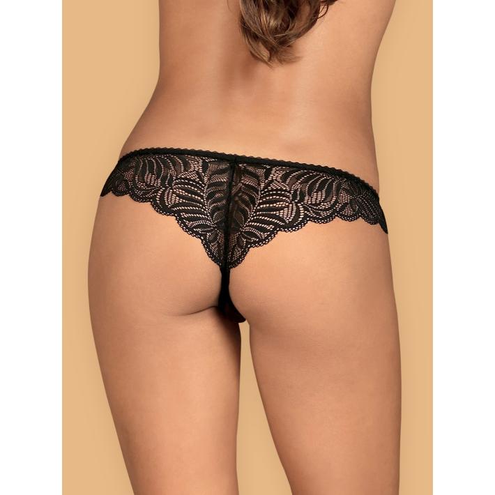 Chilot Sexy Contica Crotchless - Negru L/xl, S-m