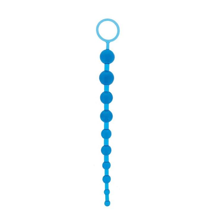 Bile Anale Oriental Jelly Butt Beads, Albastru, 26 Cm