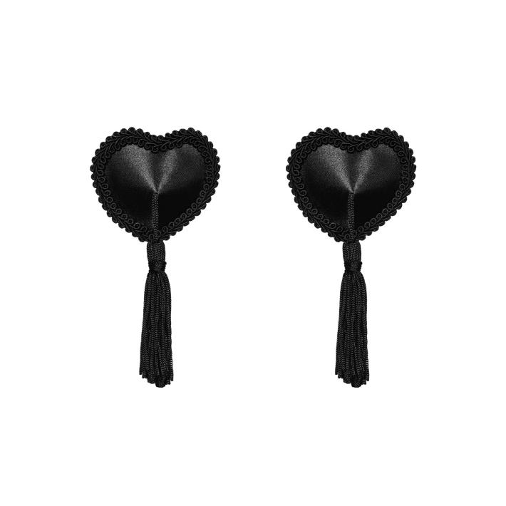 Bijuterii Intime Adezive Pentru Sani Cu Ciucurasi, Negru