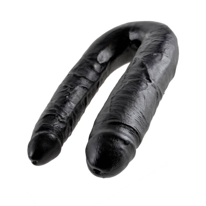 Dildo Dublu King Cock, Negru, Large