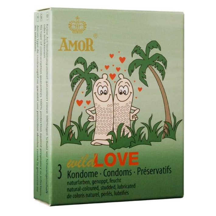 Prezervative Amor Wild Love, 3 Buc