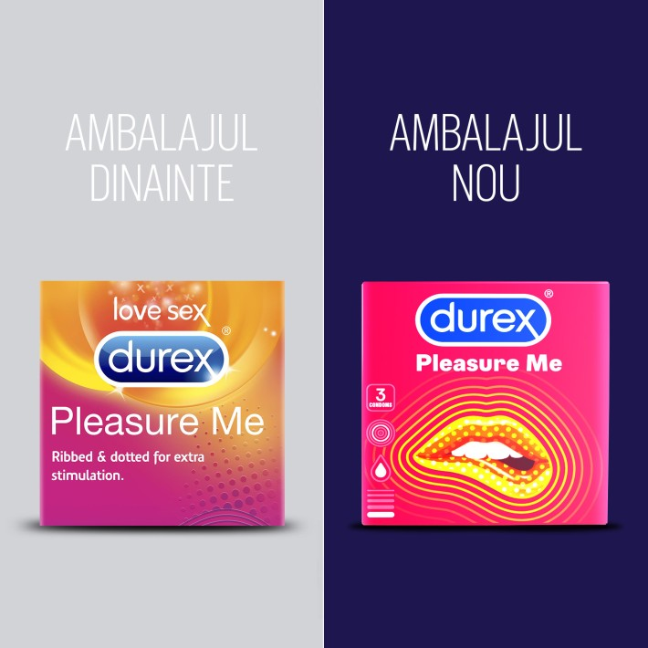 Prezervative Durex Pleasure Me, 3 Buc