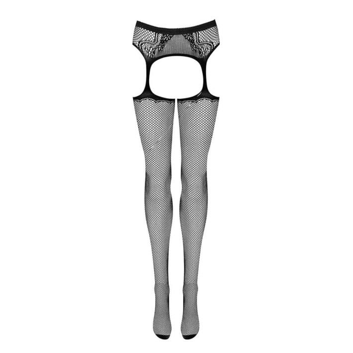 Colanti Tip Plasa Decupati Sexy Obsessive, Negru, S/m/l