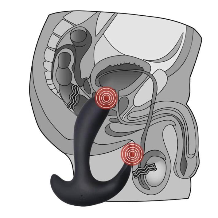 Vibrator Anal Ijoy Rechargeable P Spot Prober, Negru
