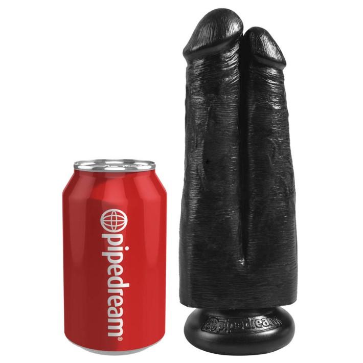 Dildo Realistic King Cock 2-in-1, Negru, 17 Cm