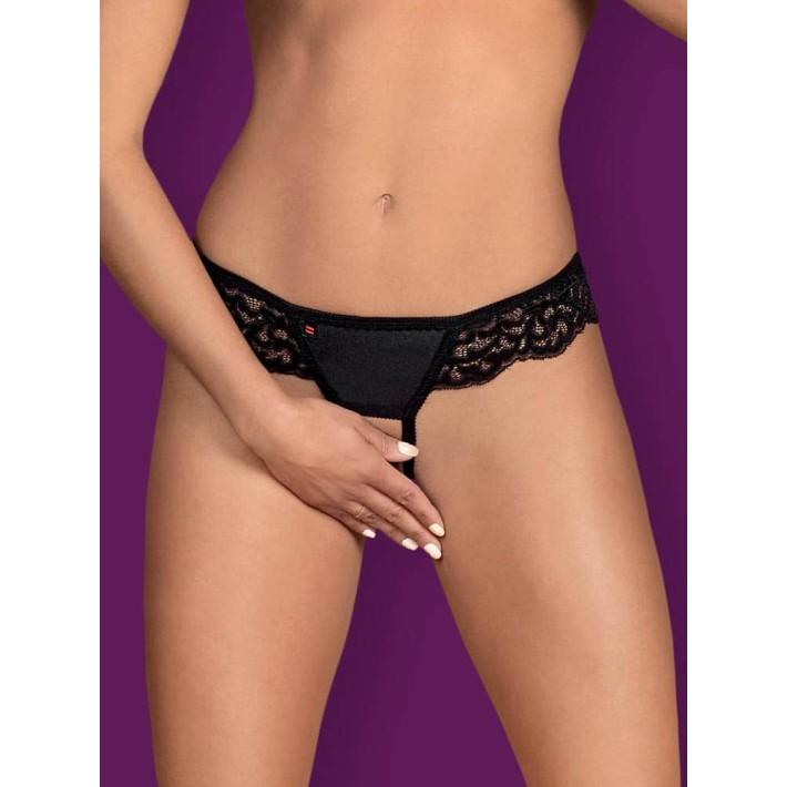 Chilot Sexy Laluna Crotchless Panties - Negru L/xl, S-m