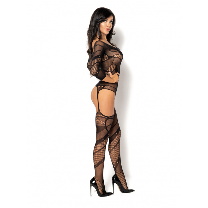 Catsuit / Body Stockings Esmeralda - Negru, S/l
