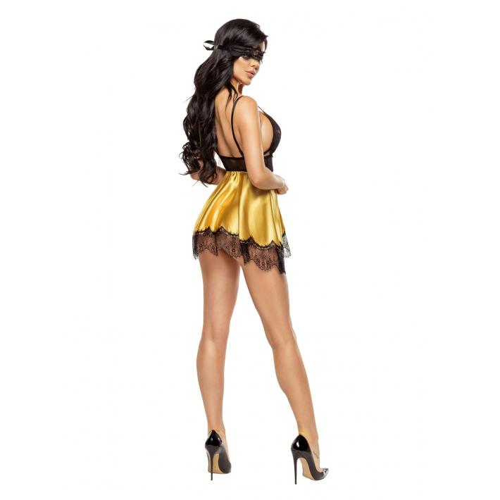 Desu Sexy Eve Chemise Gold - Auriu L/xl, S-m