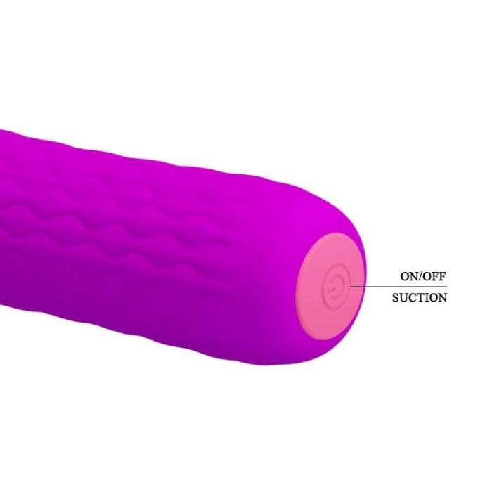 Vibrator Clitoridian Cu Suctiune Jonas, Violet