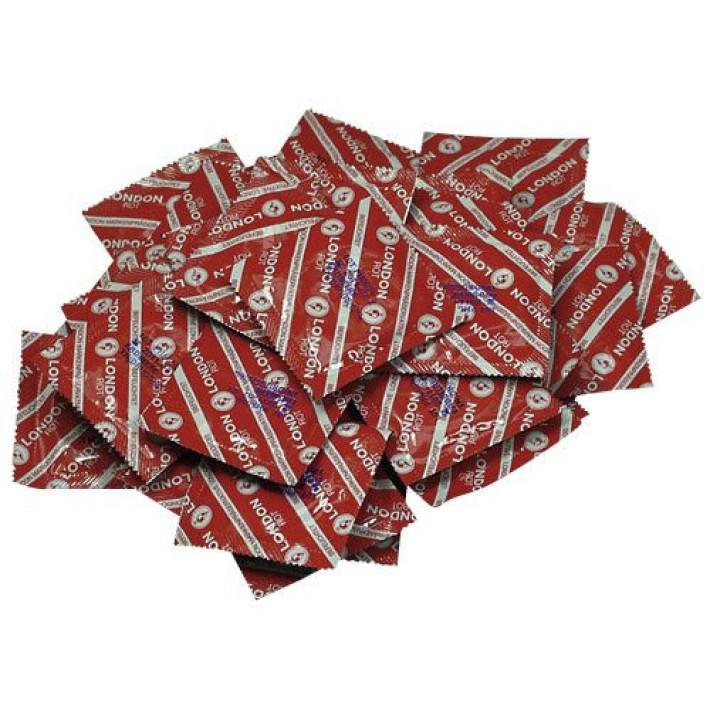 Prezervative London Red (capsune), 100 Buc.