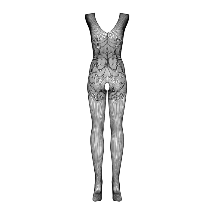 Catsuit / Body Stockings F234 - Negru, S/l