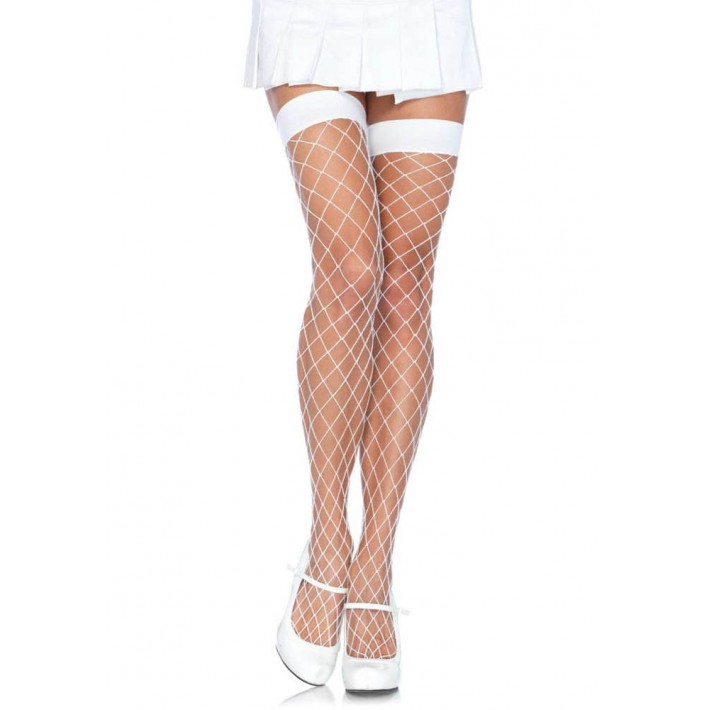 Ciorapi Albi Din Plasa, Marime Universala
