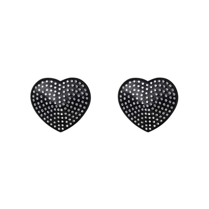 Bijuterii Autoadezive Nipple Covers, Negru