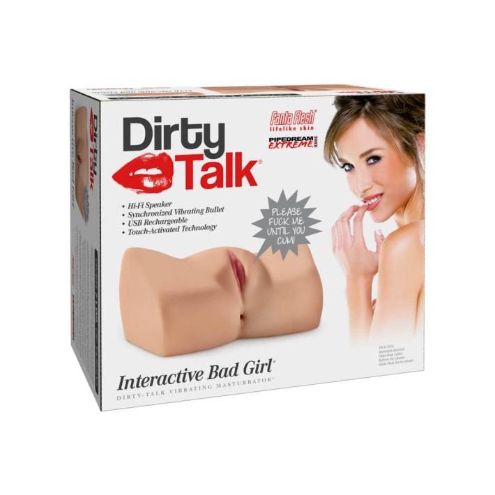 Masturbator 2-in-1 Cu Vibratii + Functie Audio Dirty Talk Interactive Bad Girl