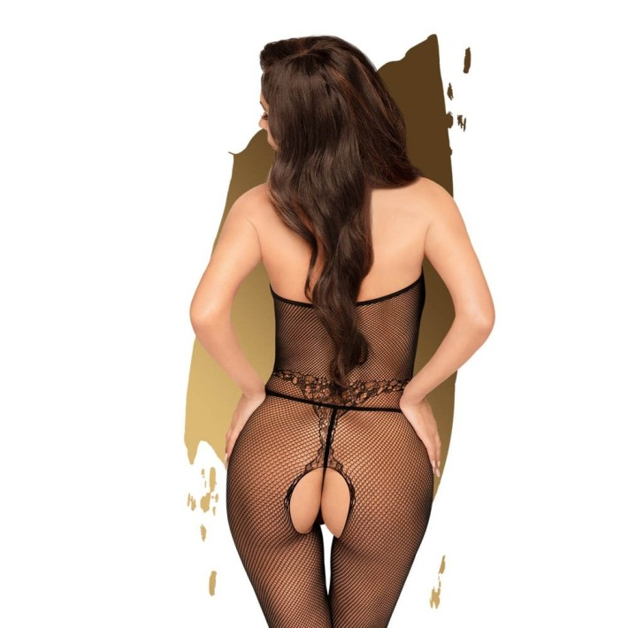 Bodystocking Sexy Tip Plasa First Lady, Negru, S-l