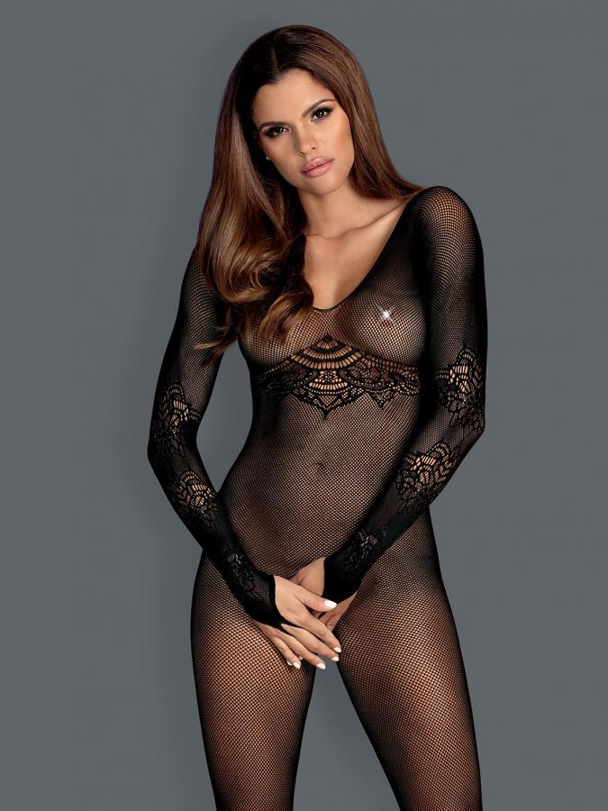 Catsuit / Body Stockings N120 - Negru S/l