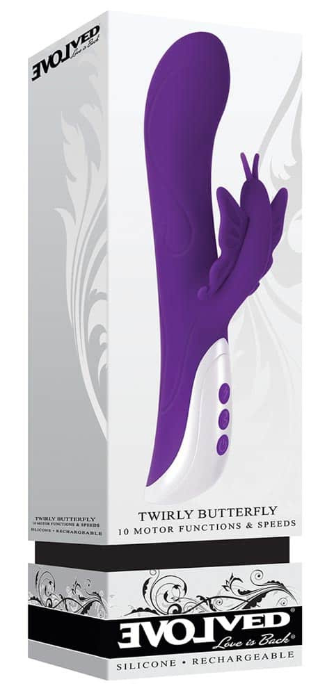 Vibrator Twirly Butterfly