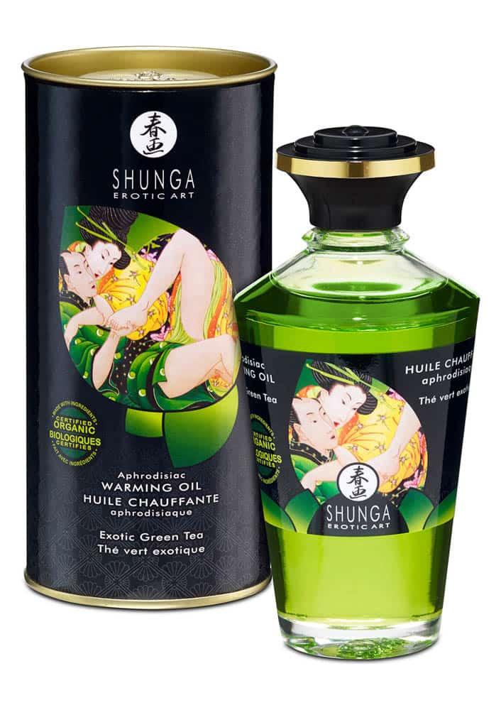 Ulei Afrodisiac Cu Efect De Caldura Exotic Green Tea 100 Ml