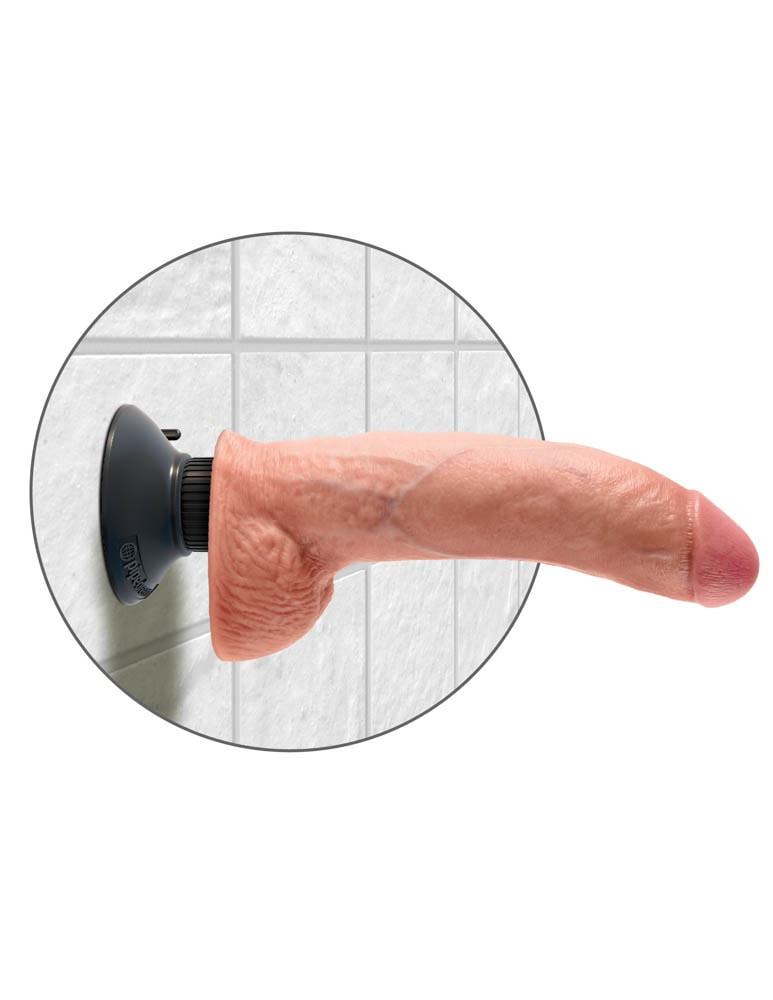 Vibrator Realistic Cu Testicule King Cock 22.8 Cm