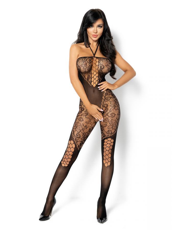 Catsuit / Body Stockings Rebecka - Negru S/l