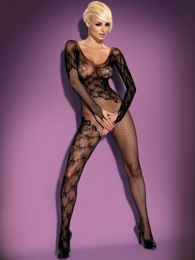 Catsuit / Body Stockings F210 - Negru S/m/l Xl/2xl
