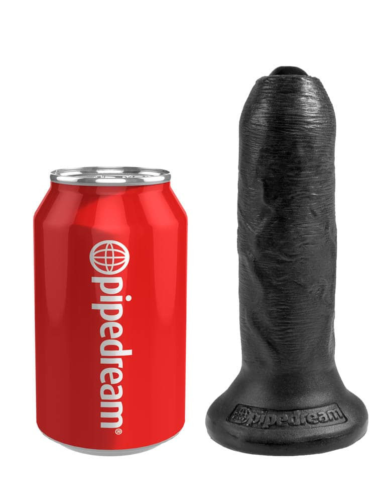 Dildo Realistic King Cock Necircumcis Negru 15 Cm
