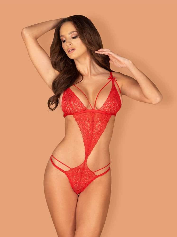 Body Sexy Din Dantela Lovlea Rosu L/xl